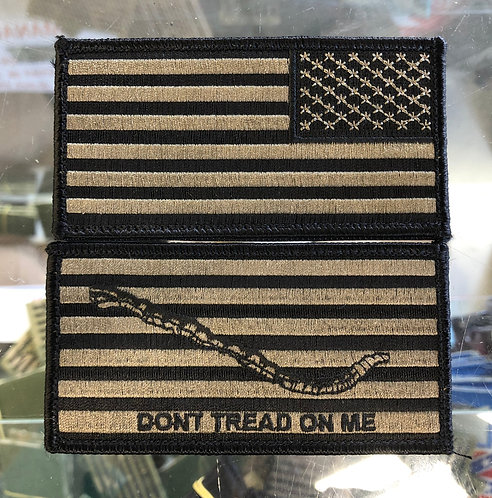 Embroidered DTOM and American Flag