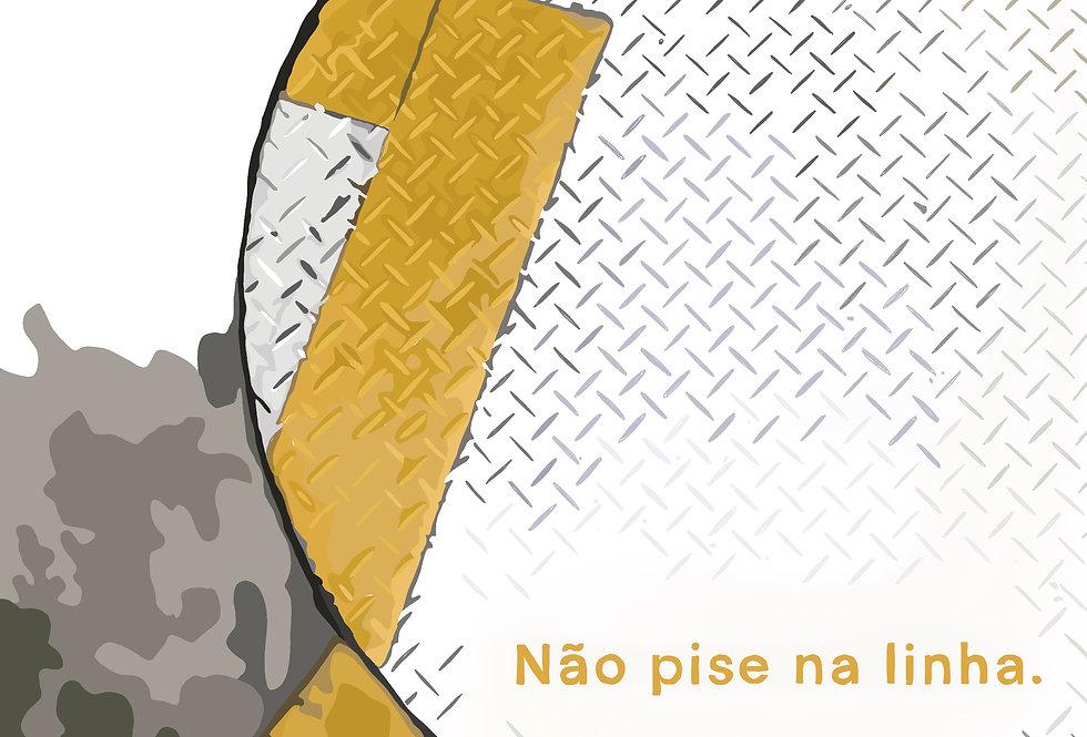 """""""Não pise na linha""""   Isadora Maia   2020"""