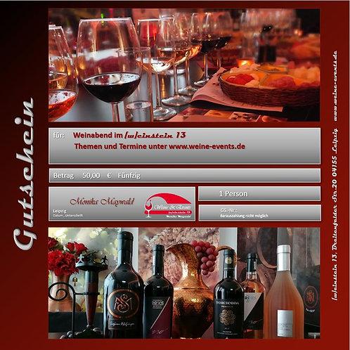 GUTSCHEIN für ein Weinevent