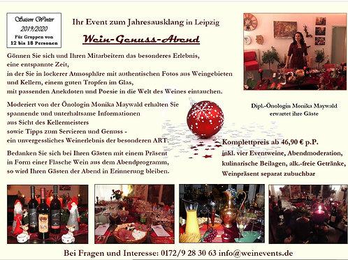 JAHRESAUSKLANG - Weingenuß-Abend  Termine n. Vereinbarung