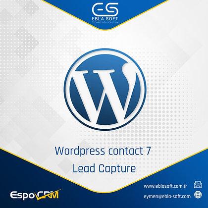 Wordpress contact 7 Lead Capture