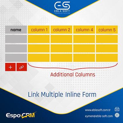 EspoCRM Link Multiple Inline Form