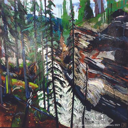 After the Falls, Athabasca Falls, Jasper, AB