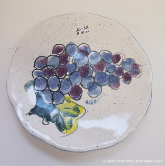 Grapes Plate - Sold
