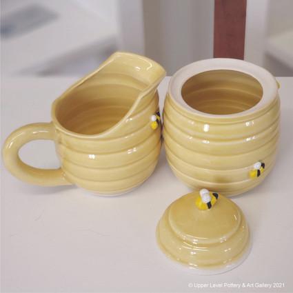 Honey Bee Cream & Sugar Set - Pitcher Sold