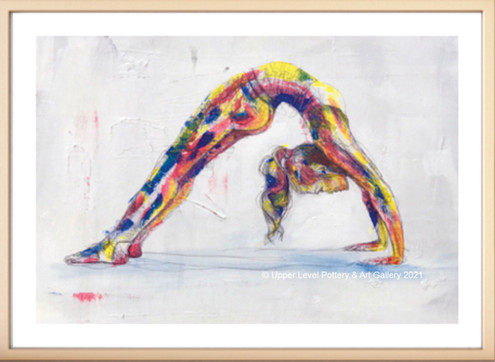 Backbend with Background