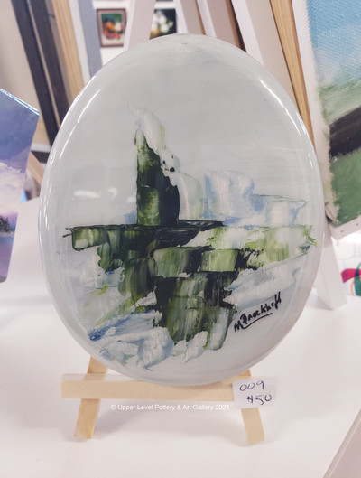 Oval on Easel