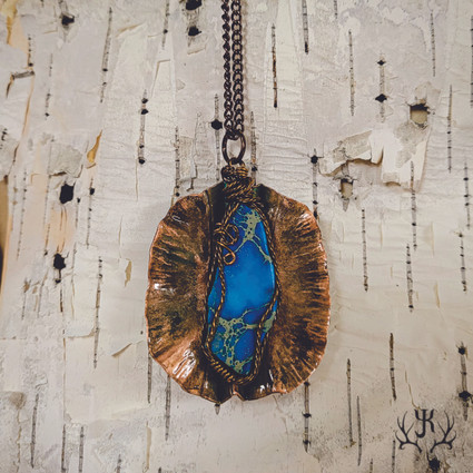 Blue Imperial Jasper Medallion