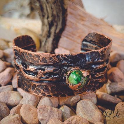 Copper & Green Cuff