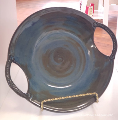 Blue Platters with Handles