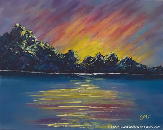 Mountain Sunset - Sold