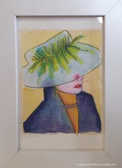 Mini Watercolor Blue Hat