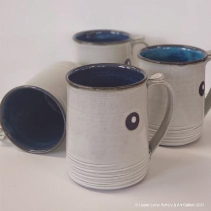 White Dot Mugs