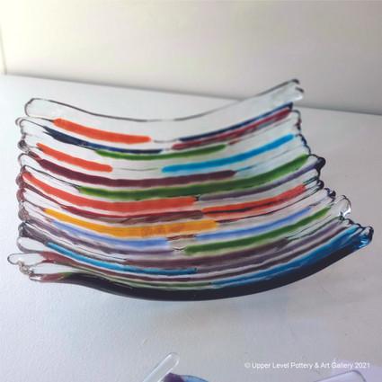 Rainbow Stripe Plate