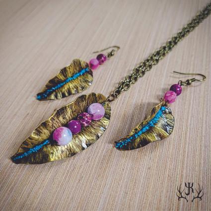 Pink & Blue Leaf Set