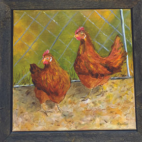 Two Red Hens