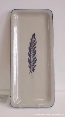 Purple Feather Platter