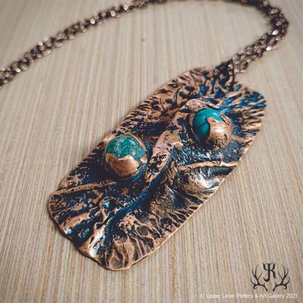 Copper & Blue Pendant