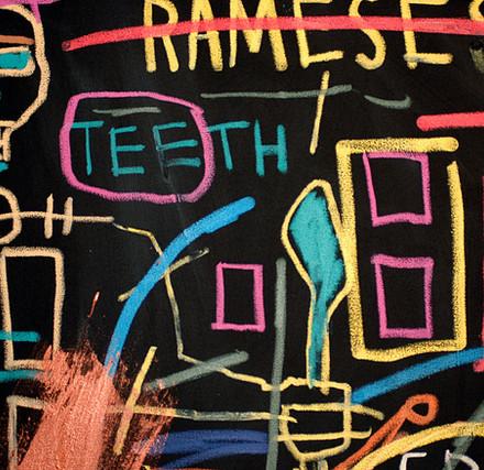Detail from Jean-Michel Basquiat
