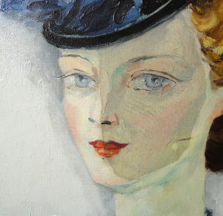 Painting by Kees van Dongen during cleaning treatment
