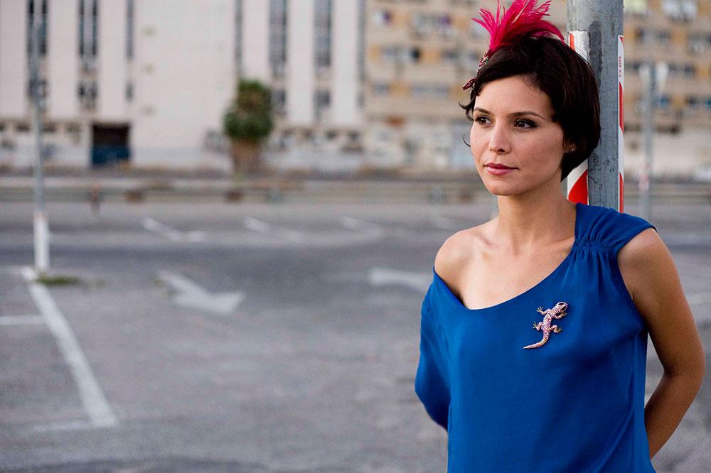 Model in Blue Blouse