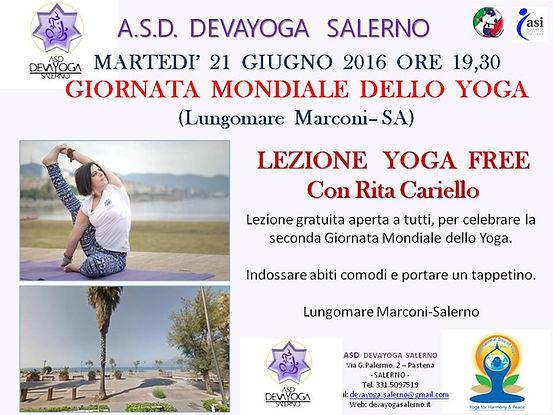 Giornat mondiale dell Yoga Saleno 2016