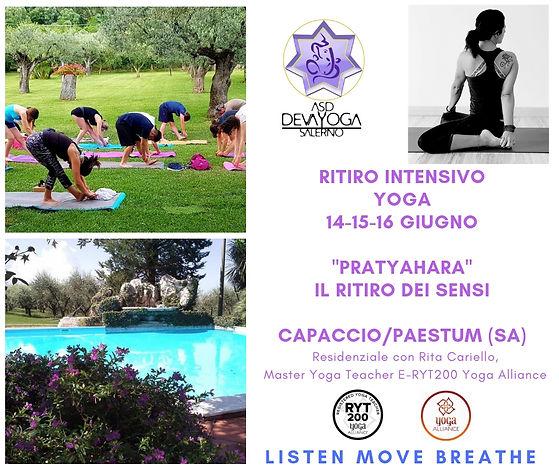 Ritiro Yoga Capaccio Giugno 2019