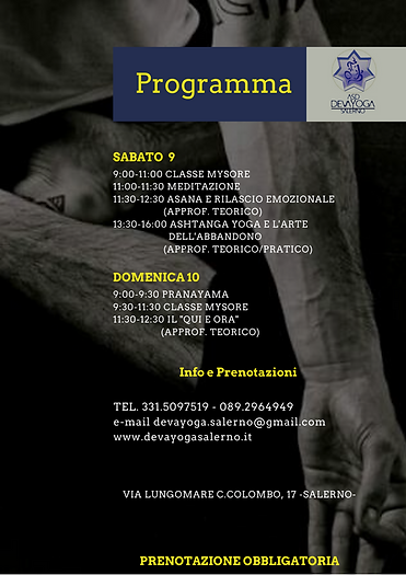 Programma workshop Riccardo Gherardi