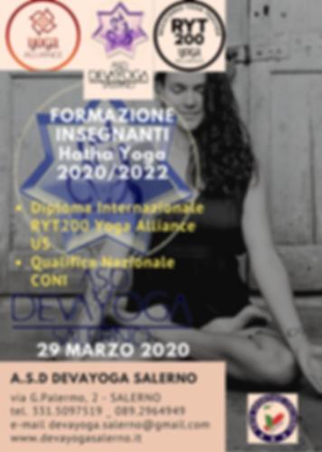 Formazione insegnnti Yoga RYT200