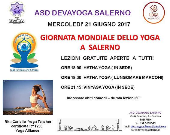 Giorata mondiale dello yoga Salerno 2017