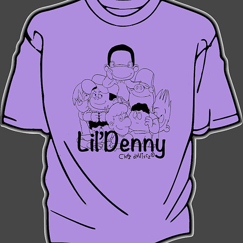 Lil' Denny and the gang adult Tshirt