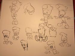 Atomic Sox avatar sketch-ups