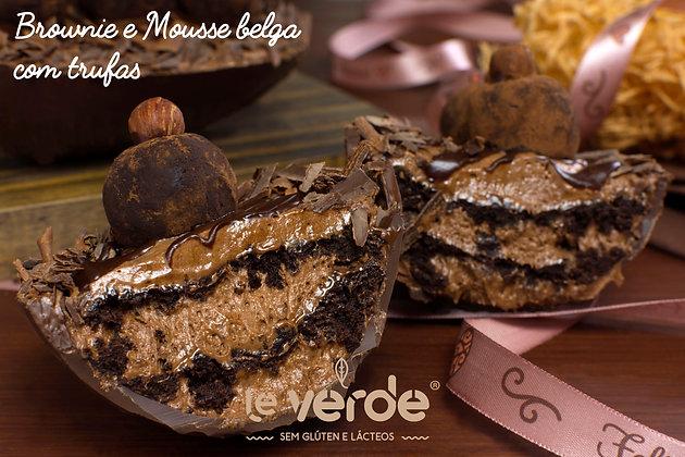 Ovo brownie e mousse belga com trufas