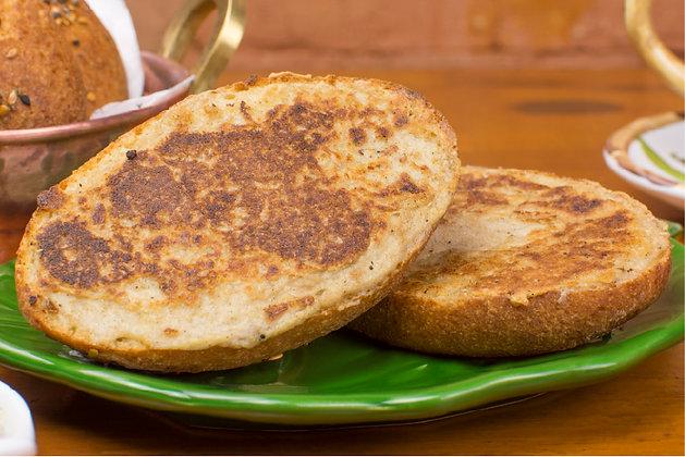 Pão na chapa com requeijão de castanha