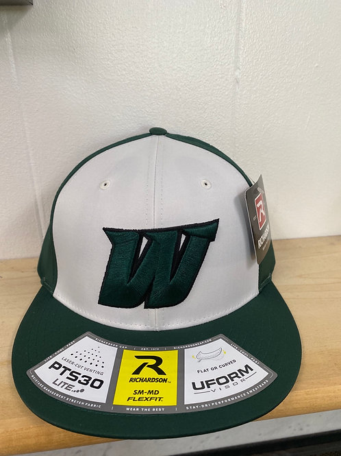 PTS 30 Fitted Hat (green and white)