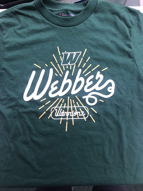 Webber Kids Tee Green (Youth Sizes)