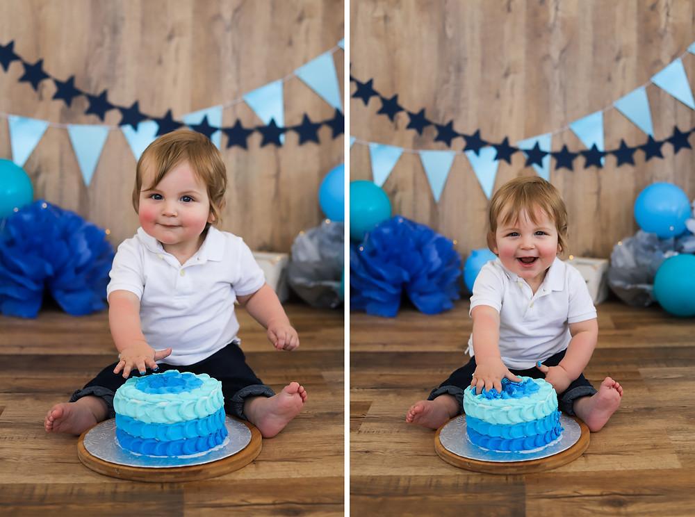 Blue Boy Cake Smash
