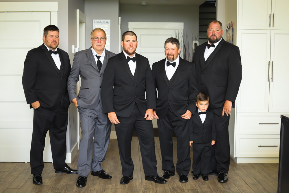 Groom and Groomsmen wedding portraits