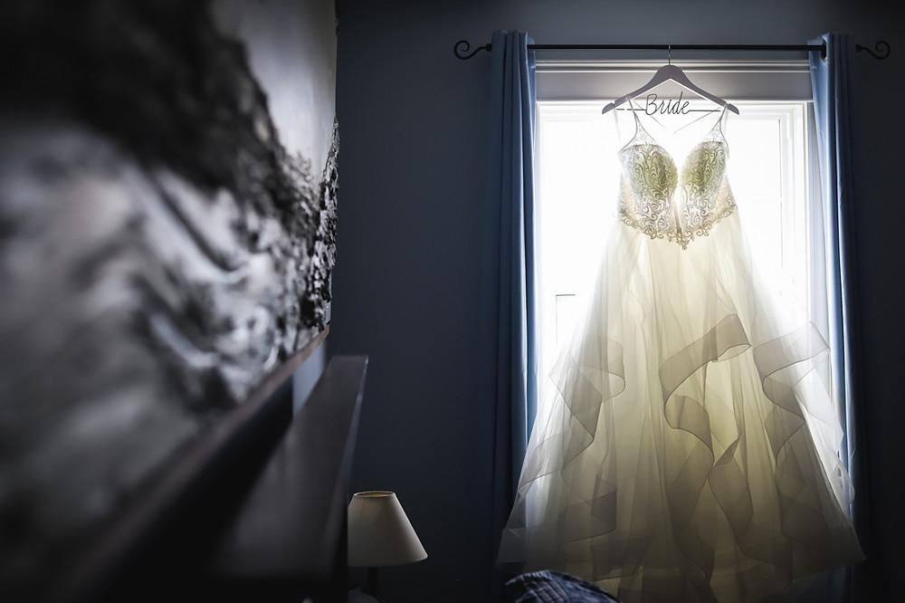 Wedding Dress in window