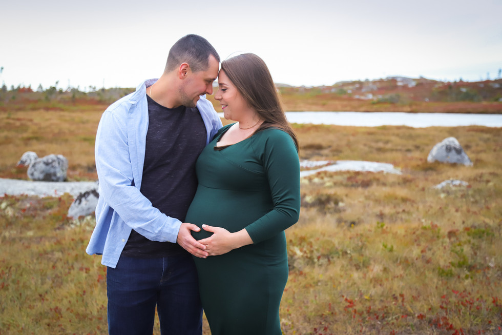 Hillary + Nathan - A Polly's Cove Maternity Session