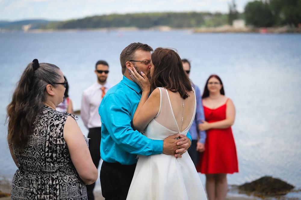First Kiss - Halifax Wedding Photography