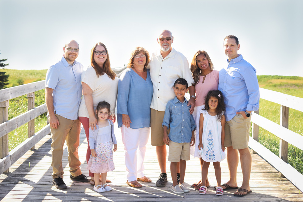 The Pearce Family - A Rainbow Haven Beach Family Session