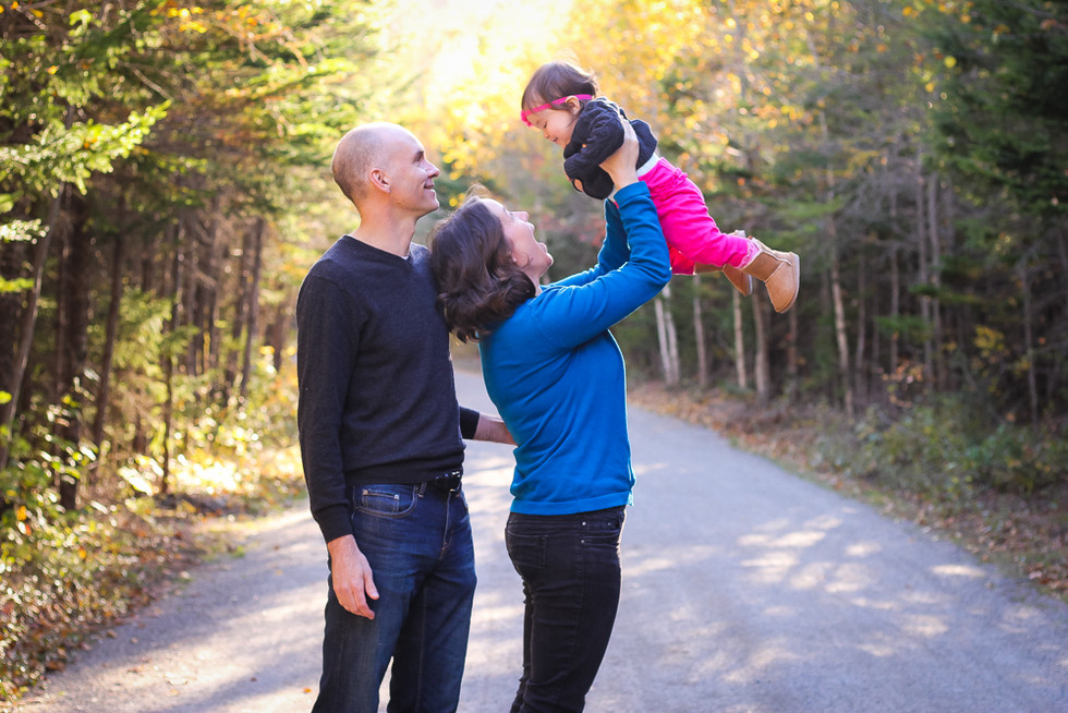 The Dauphinee Family at the Rails to Trails Fox Hollow - Halifax Family Photographer