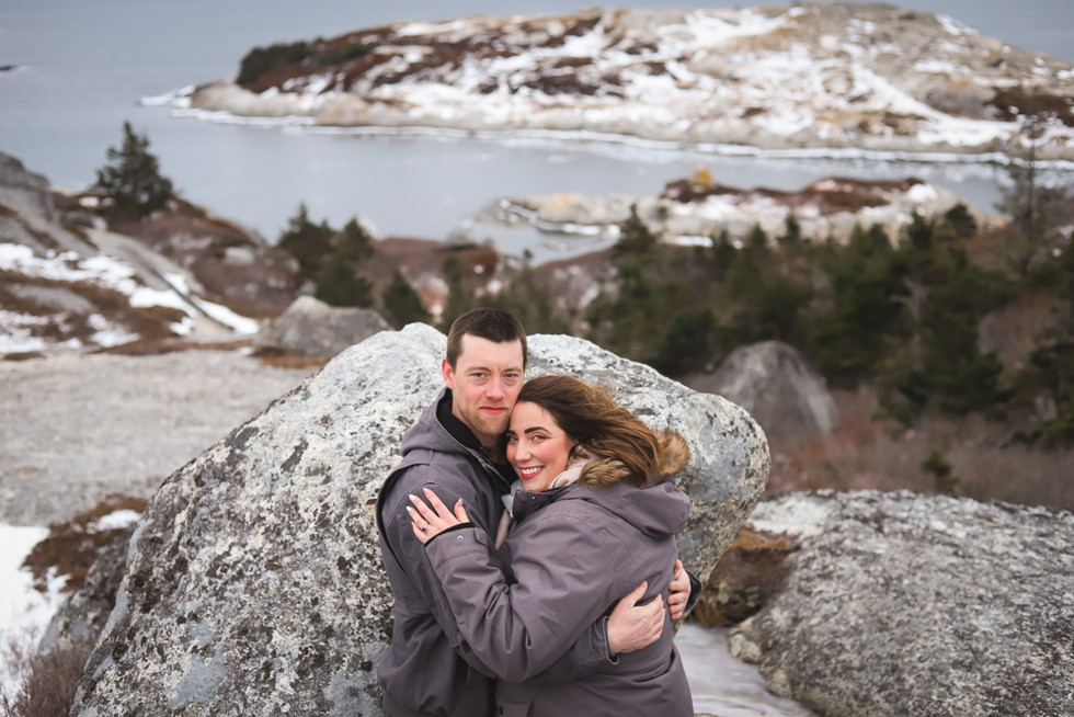 Lindsay + Dave - a Polly's Cove Engagement Session - Halifax Wedding Photographer
