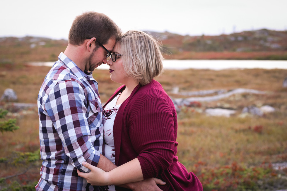 Megan & Josh at Polly's Cove - Halifax Engagement Photographer