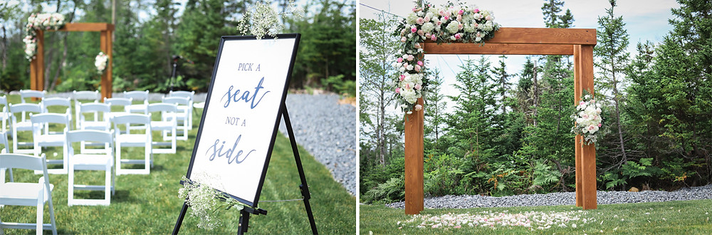 Backyard wedding Nova Scotia