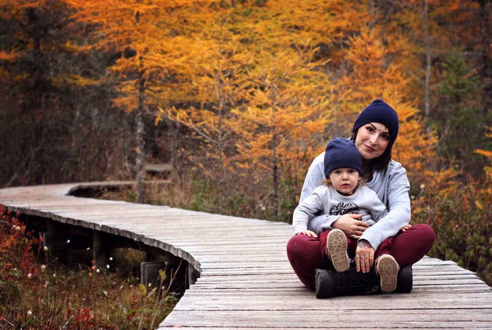 Amanda & Ryker - A Bluff Trail Family Session - Halifax Family Photographer