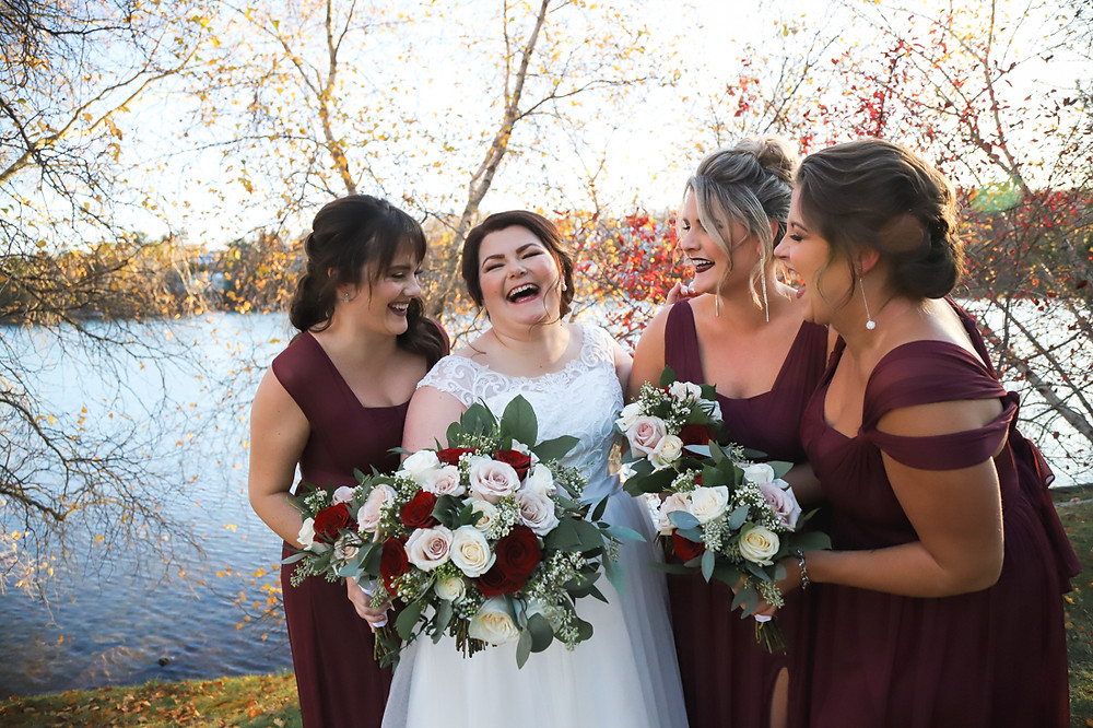Bride and Bridesmaids - NS Wedding Photography