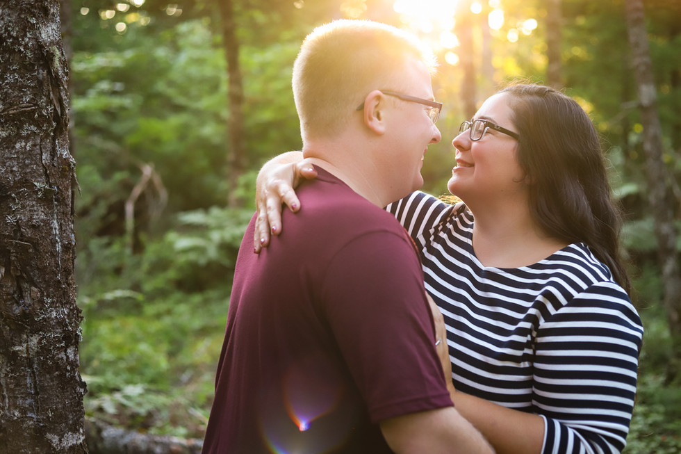 Jessica + Matthew - A backyard Engagement Session