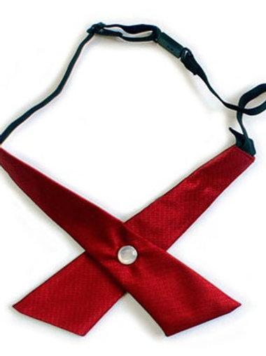 Галстук для девочки бордовый 02